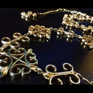 Accessories - Gold Tone Metal Chain Belt Adjustable
